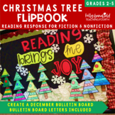 Christmas Tree Reading Response Flipbook: Fiction and Nonfiction
