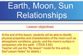 Flip Lesson: Earth, Moon, Sun Relationship
