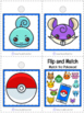 Flip & Match Pokemon Go- 4 Activity Set for Numbers 1-10, Colors, & Shapes