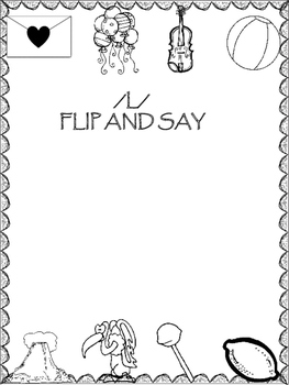 Flip-N-Say Activities for Articulation Practice (12) Sounds All Positions