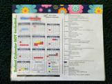 Flip Organizer - 5 Page - Blue w/ Flowers
