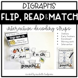 Flip, Read, and Match Decoding Strips | Digraph Phonics Ac