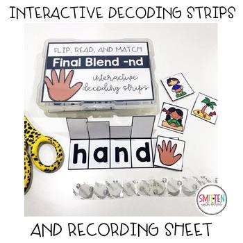 Flip, Read, and Match Decoding Strips   Final Blends Phonics Activities