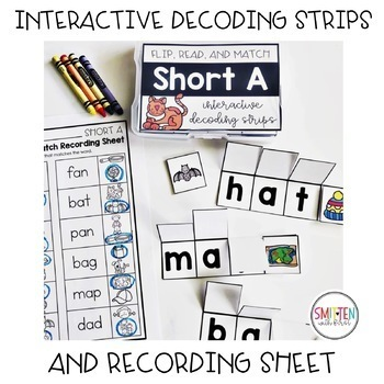 Flip, Read, and Match Decoding Strips | Growing Bundle Phonics Activities
