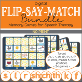 Flip-Say-Match Bundle – No Print Digital Matching Game for