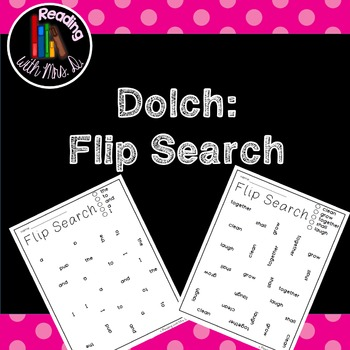 Dolch Flip Search: A Sight Word Pack