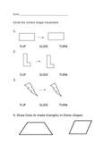 Flip, Slide, Turn Assessment - Geometry