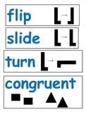 Flip, Slide, Turn, Congruent Word Wall