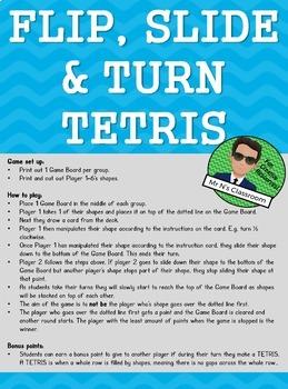 Flip, Slide & Turn TETRIS (Transformation Game)