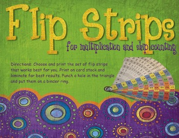Flip Strips for skip counting and multiplication