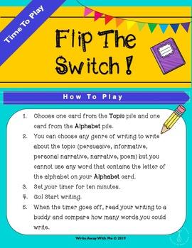 Flip The Switch : A Fun Writing Game