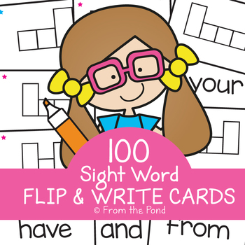 Sight Words Flip and Write Cards