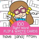 Sight Word Practice - Flip and Write Activities