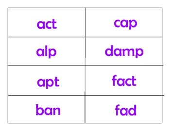 Phonics:  Closed and open syllables and digraphs Flip a Card!