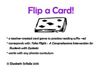 Phonics:  Suffix -ed Flip a Card!