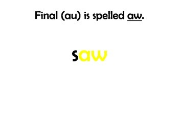 Spelling:  Speling with au and aw Flip a Card!