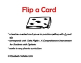 Spelling:  Spelling with final tch and ch Flip a Card!