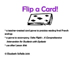 Phonics:  French endings Flip a Card!