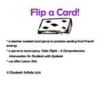 Phonics:  French endings Flip a Card!