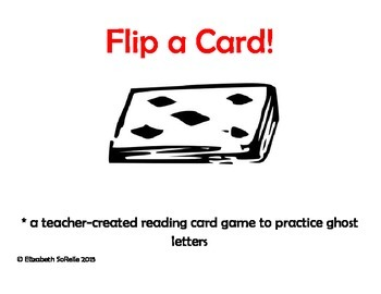 Phonics:  Ghost Letters Flip a Card!