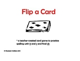 Spelling:  Spelling with C, K, and Final CK Flip a Card!