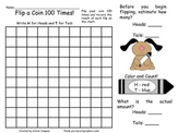 Flip a Coin 100 Times for the 100th Day of School Estimati