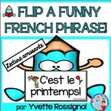 Lecture - Le printemps - French Reading - French Spring - Première année