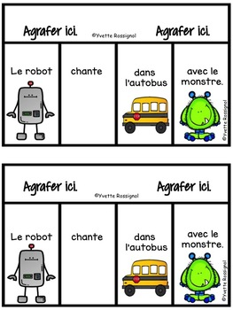 Lecture - French Reading - French Flip Book - Mots fréquents