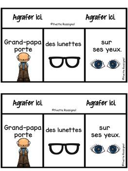 Lecture pour thème Les vêtements | Emergent reader for French Clothing