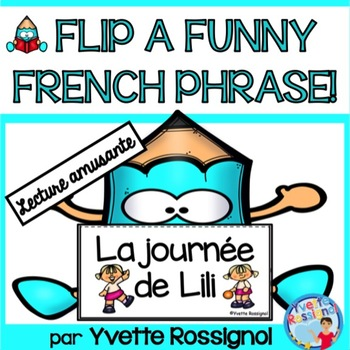 Lecture - French Reading - Les actions - French Flip Book