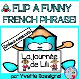 Lecture | Les actions français | French Reading with Flip Book