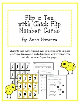Flip a Ten with Chick Flip Number Cards