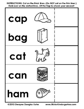 Flip and Check: CVC Words and Numbers