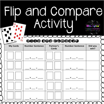 Flip and Compare Activity - Multiplication Facts
