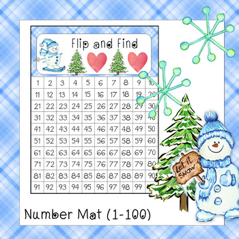 Flip and Find 1-100 and 1-120 (Winter Snowman Theme)