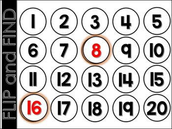 Flip and Find Centers (Numbers & Letters)