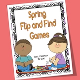 Spring Flip and Find Matching Games for Letter and Number Recognition
