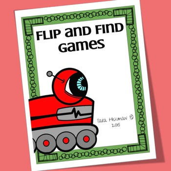 Robot Flip and Find Matching Games