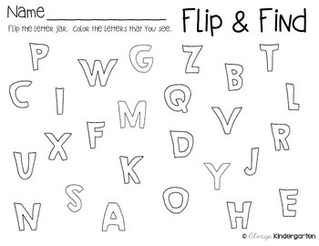 Flip and Find Letter Freebie