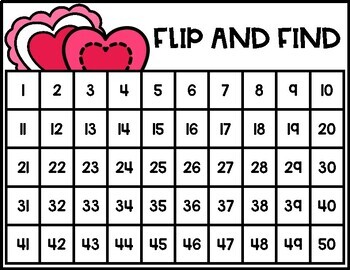 Flip and Find Numbers 1-50 Center [Number Recognition]