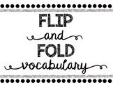 Flip and Fold Vocabulary Poster *FREEBIE*