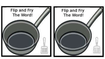 Flip and Fry - Editable Sight Word Game