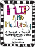 Flip and Multiply 2-digit x 2 digit Game Partial Products