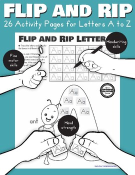 Flip and Rip Letters A to Z - Fine Motor, Handwriting and Finger Strengthening