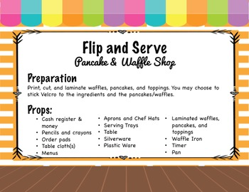Flip and Serve: Pancake and Waffle Dramatic Play with Printable Props