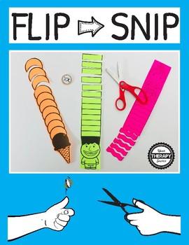 Flip and Snip Scissor Game for Kids