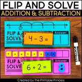 Flip and Solve with Addition and Subtraction Flash Cards