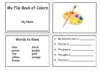 Flip book of Colors