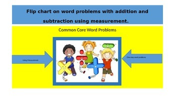 Flip chart for problems with addition and subtraction usin
