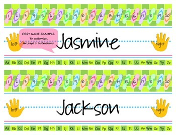 Flip flop desk name tags {3 designs in 1 PDF file!} with student names typed